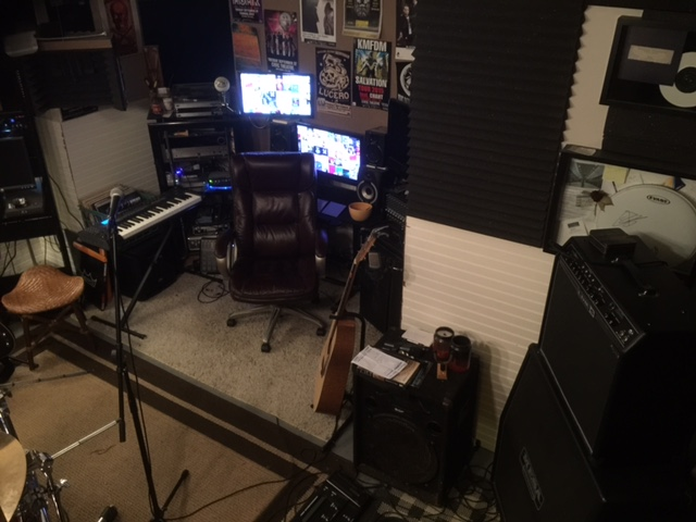 Rack/ Monitors/ Recording Gear